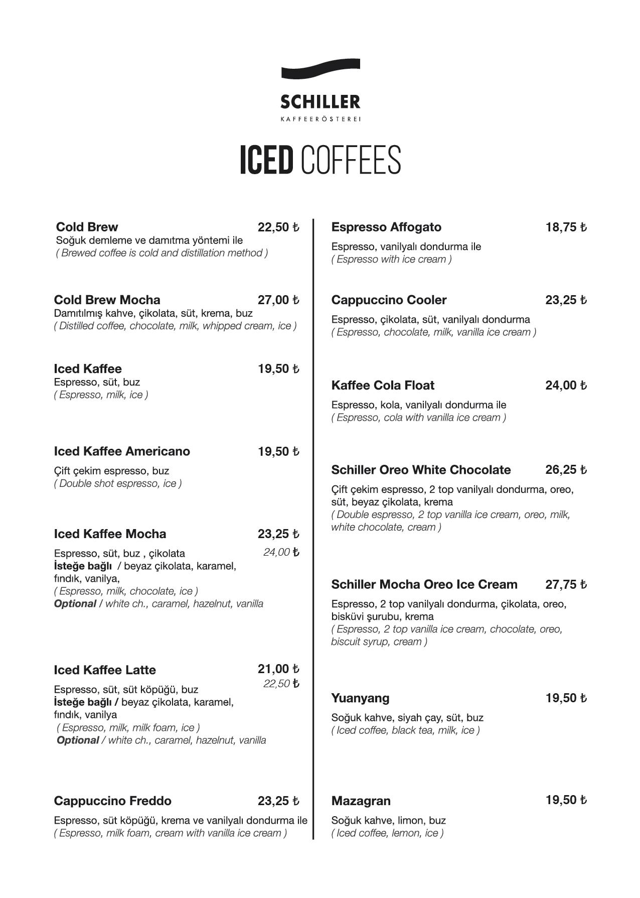 Iced Coffees