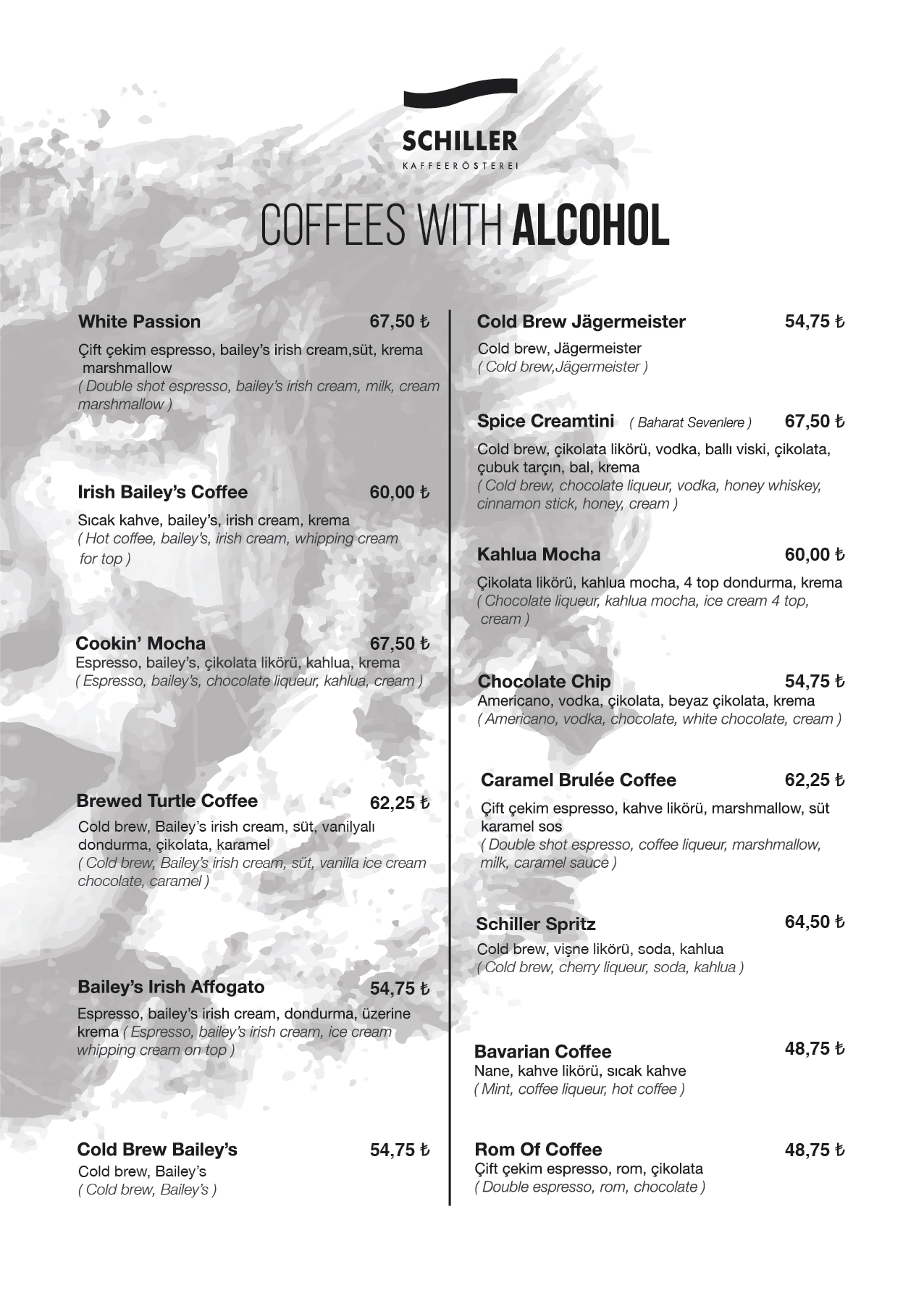 Coffees with Alcohol