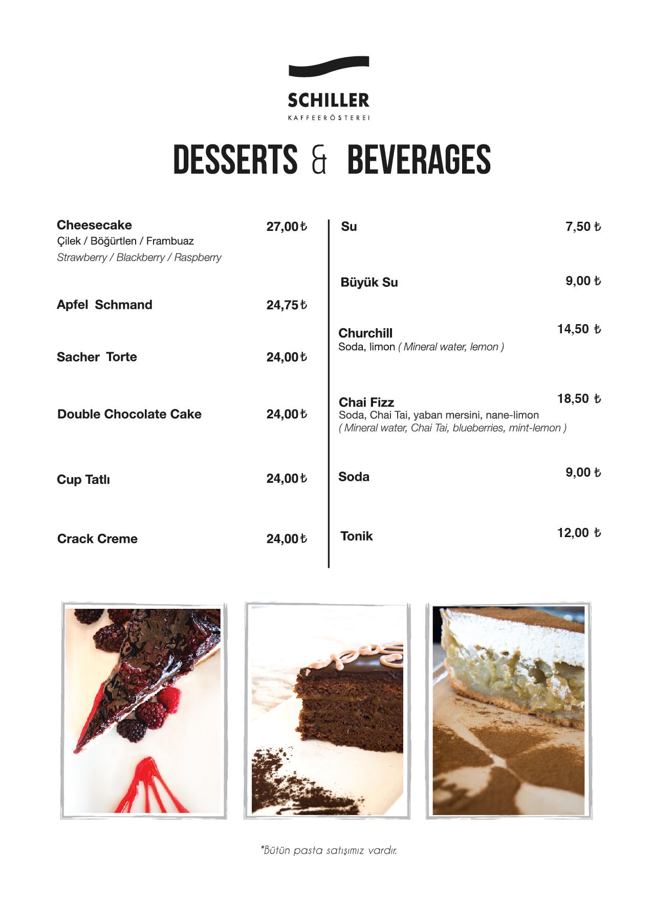Deserts & Beverages